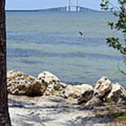 Sunshine Skyway From The Causeway Poster
