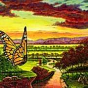 Sunshine Traveler-monarch Poster