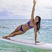 Surfboard Yoga Poster
