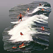 Surfing Deerfield Beach Poster