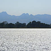 Sutter Buttes And Flooded Rice Field Poster