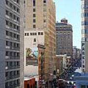 Sutter Street West View Poster by Wingsdomain Art and Photography