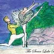 Swan Lake Ballet Poster by Marie Loh