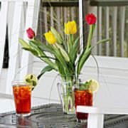 Sweet Tea And Tulips Poster