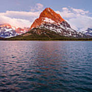Swiftcurrent Lake At Dawn Poster