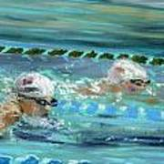 Swimmers Poster by Paul Mitchell