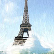 Swimming Pleasure In Paris Poster by Steve K