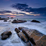 Swirly Wave At Sunrise In Co Thach Beach Poster