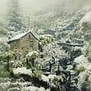Switzerland In Winter Poster by Joana Kruse
