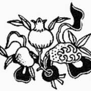 Symbol: Three Fruits Poster