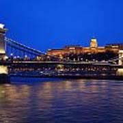 Szechenyi Bridge In Budapest Poster