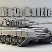 T-80 Main Battle Tank Poster
