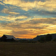 Table Rock Sunset And Barn Poster