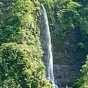 Tahitian Waterfall Poster