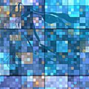 Take Me Geometric Blue Poster