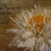 Take Time Poster by Cindy Wright