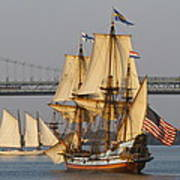 Tall Ship Five Poster