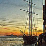 Tall Ship In Manhattan Poster