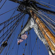 Tall Ship Rigging Poster