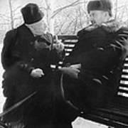 Tamm And Kurchatov, Soviet Physicists Poster