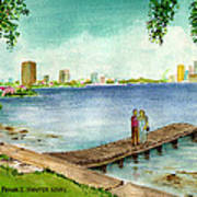 Tampa Fl Little Pier At Ballast Point Poster