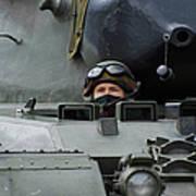 Tank Driver Of A Leopard 1a5 Mbt Poster by Luc De Jaeger