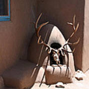 Taos Horno And Antlers Poster