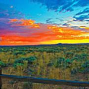 Taos Sunset Ix Poster