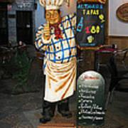 Tapas Man In Spain Poster