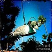 Tea Strainer Duck Poster