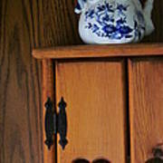 Teapot On Cabinet Poster