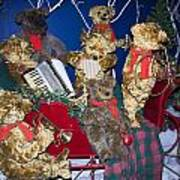 Teddy Bear Band Christmas Poster