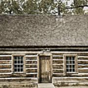 Teddy Roosevelt's Maltese Cross Log Cabin Retro Style Poster