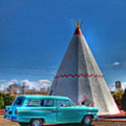 Teepee On Route 66 Poster