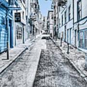 Telegraph Hill Blue Poster