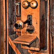 Telephone - Antique Hand Cranked Phone Poster