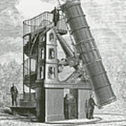 Telescope At The Paris Obervatory Poster