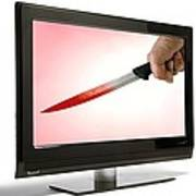 Television Violence, Conceptual Image Poster by Victor De Schwanberg