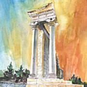 Temple Of Apollo In Kourion Poster