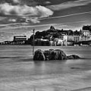 Tenby Harbour 1 Mono Poster