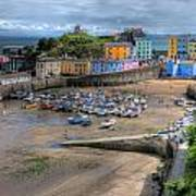 Tenby Harbour In Summer Poster