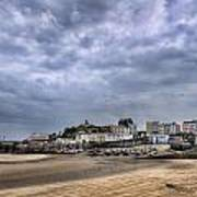 Tenby Harbour Low Tide Poster