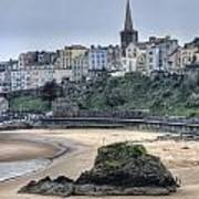 Tenby Over North Beach Poster