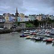 Tenby Town Across The Harbour Poster