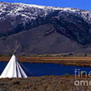 Tepee Poster by Barry Shaffer