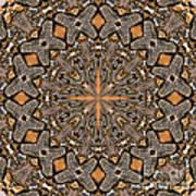 Terracotta Stone Medallion 5 Poster