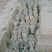 Terracotta Warriors In Xian In China Poster