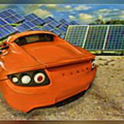 Tesla Car Poster