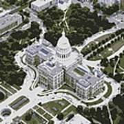 Texas Capitol Color 6 Poster by Scott Kelley