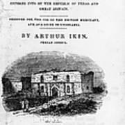Texas: Guidebook, 1841 Poster